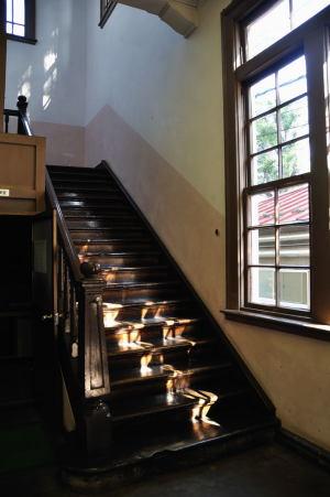 日本獣医生命科学大学本館左手奥の階段