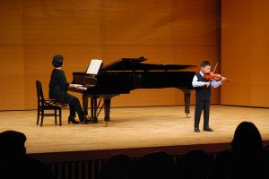 去年のヴァイオリン独奏