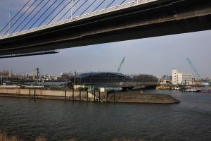 上平井橋の向うを中川が大きく蛇行している