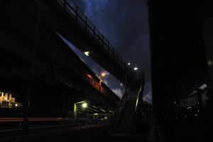 清砂大橋の上る階段を見つける