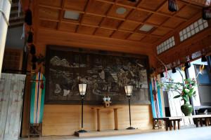 葛飾八幡宮の神楽殿の大絵馬