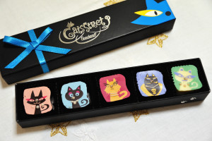神戸のゴンチャロフ製菓のキャッツストリートという猫のチョコレート