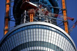 東武橋から見る東京スカイツリーの第一展望台