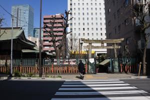 神田川を挟んで秋葉原の近くにある柳森神社