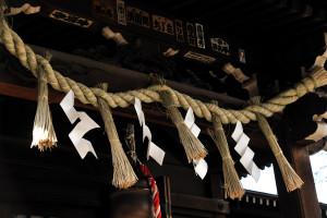 柳森神社の注連縄