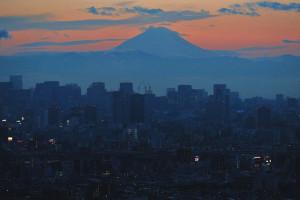 富士山の辺りの雲がどいてくれた