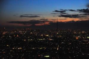 東京スカイツリーと富士山と東京タワー