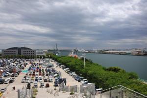 東京港フェリーターミナルの辺り