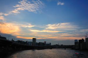 新大橋からの隅田川