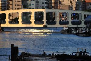日本橋川湊橋から豊海橋