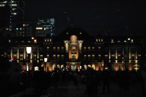 東京駅夜景正面