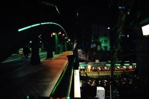 屋形船に柳橋