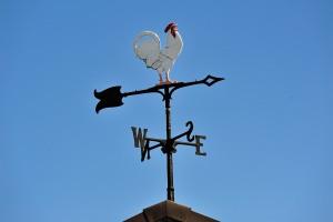ミニ鉄道乗り場の風見鶏