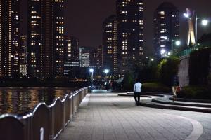 佃島と中央大橋