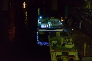 夜桜見物に乗ったボート