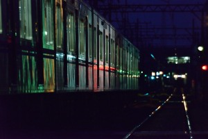 夜の京成電車