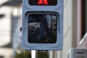 市川橋近く歩行者用信号