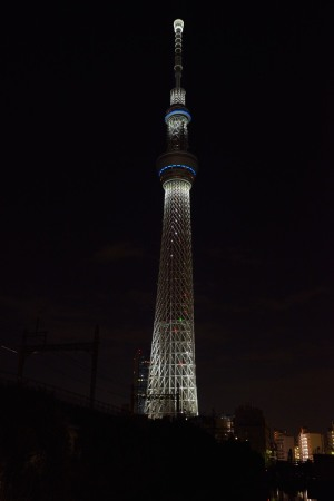 Tokyo Sky Tree Light-up of 2015 New Year's Day