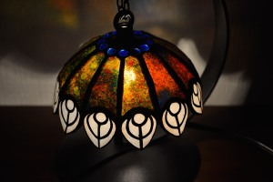 Lamp shade of stained glass