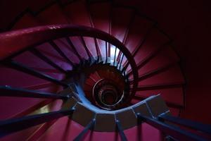 Tokyo Bunka Kaikan spiral staircase