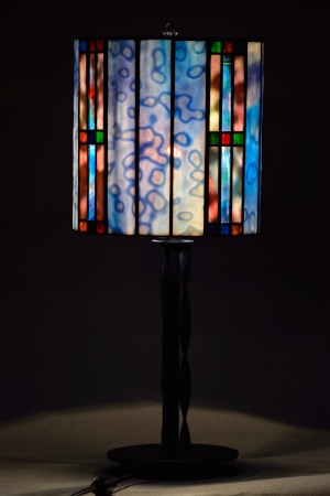 Stained glass lamp shade