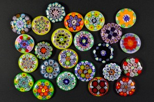 Marbles glass made with Milfiori